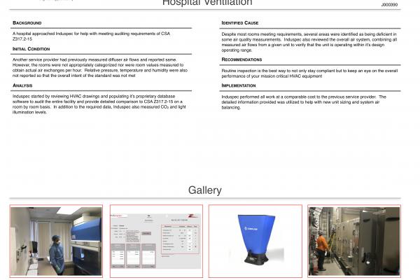 Hospital Ventilation Inspection