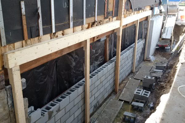 Basement Bearing Wall Repair